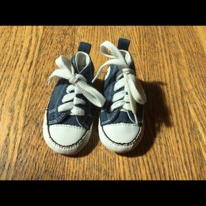 Navy Blue Baby Converse Chuck Taylor Shoes Size 3